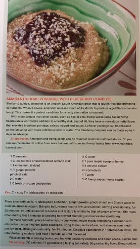 Amaranth-Hemp Porridge